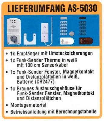 Lieferumfang Abluftsteuerung AS-5030