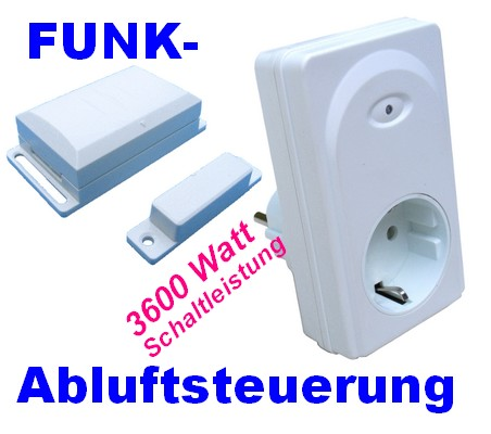Funk-Abluftsteuerung DFM-DZS mit Hightech-Fenster-Sensor