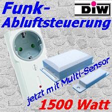 Funk-Abluftsteuerung DFM-SIT 1500 W