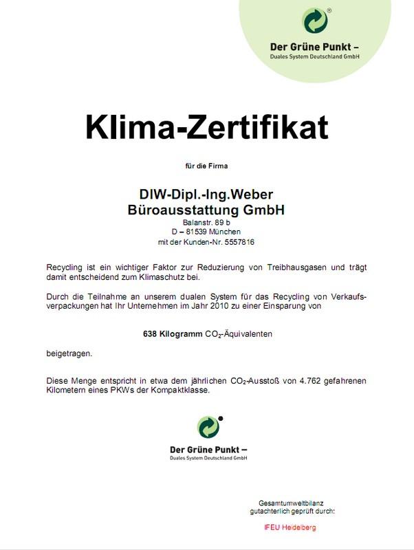 DDIW-Klima-Zertifikat 2010