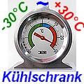 K�hlschrankthermometer Edelstahl LT-122