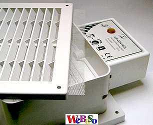 Air Control brennergesteuerte Raumluftklappe/Zuluftklappe für Heizräume, Öl- und Gasfeuerstätten