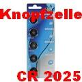 5er-Blister HQ Batterien Knopfzellen 3 V CR 2025