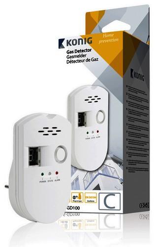 steckdosen gasmelder gasalarm gd100 f r erdgas stadtgas butan fl ssiggas v0. Black Bedroom Furniture Sets. Home Design Ideas