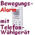 König Bewegungssensor Bewegungsmelder Alarm mit Sirene und eingebautem Telefonwählgerät