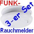 HQ Funk-Rauchmelder 3er-Set