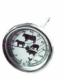 Grill-, Braten-, Fleisch-Thermometer 0-120 �C