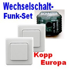 funk wechselschaltung set f r licht kopp europa diw 868 ebay. Black Bedroom Furniture Sets. Home Design Ideas