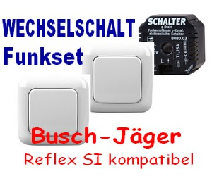 funk wechselschaltung busch j ger reflex si alpinwei ebay. Black Bedroom Furniture Sets. Home Design Ideas