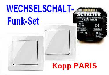 funk wechselschaltung paris kopp free control. Black Bedroom Furniture Sets. Home Design Ideas