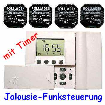 komplett set rohrmotor steuerung mit funk timer f r 4. Black Bedroom Furniture Sets. Home Design Ideas