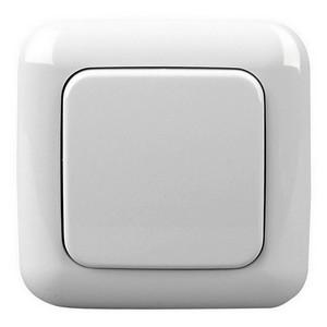 Funk-Lichtschalter (=Sender)ohne Kabel mit 1-2 Schaltmöglichkeiten elektro-weiß