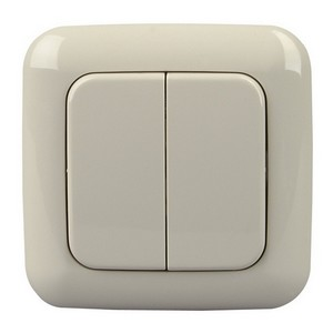 Funk-Lichtschalter (=Sender) elektro-weiß ohne Kabel mit 2-4 Schaltmöglichkeiten