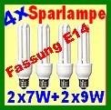 Sparset 4x Energiesparlampen mit kleiner Fassung E14 von www_WEBSAO_de
