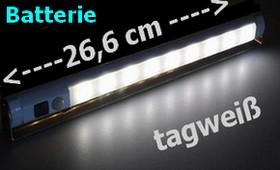 LED-Unterbauleuchte Batteriebetrieb 9 SMD-LEDs 26,6cm Lichtleiste 9-19886 Lichtfarbe tagweiß