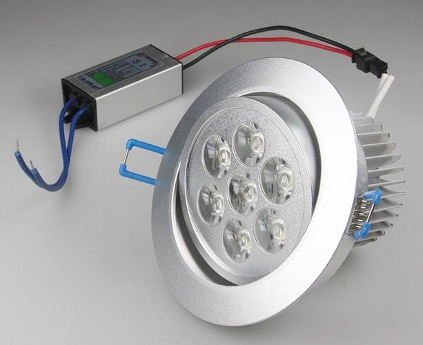 RD-7pro - elegante LED-Einbauleuchte 9-20402 mit 7x1W Hightech-LEDs