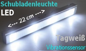 LED Schubladenleuchte LSL-4 Vibrationssensor Touch-Funktion 9-21239 kaltweiß