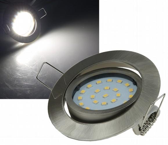 Flat-26 schicke LED-Einbauleuchte 9-21842 Edelstahl geb�rstet, Lichtfarbe neutralwei�, 4W