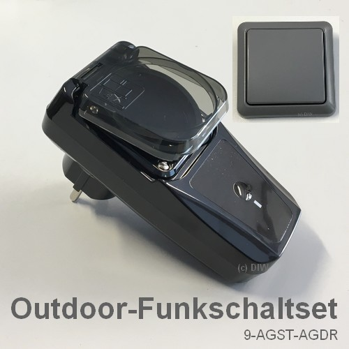 SPARSET-09: Outdoor-Funkschaltset AGST-AGDR mit Wandsender