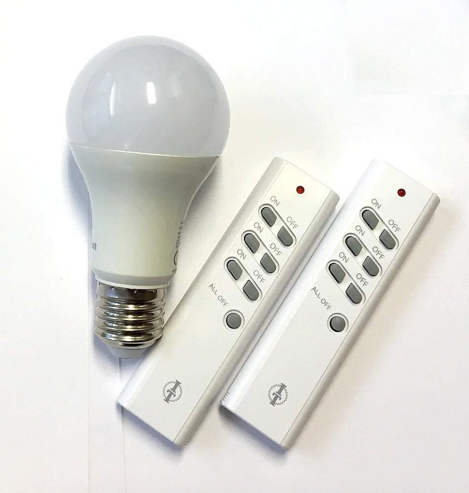 SPARSET-02: FUNK- LED-Kugellampe E24 9W + 2x Intertechno Fernbedienung 2xITT-1500