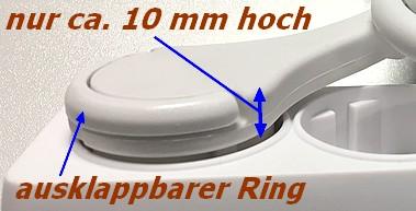 3-fach Steckdosenleiste mit extraflachem Winkelstecker