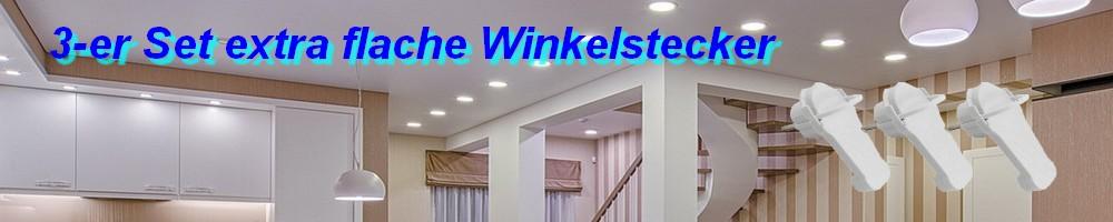 3-er Set extraflacher Winkelstecker 1300480