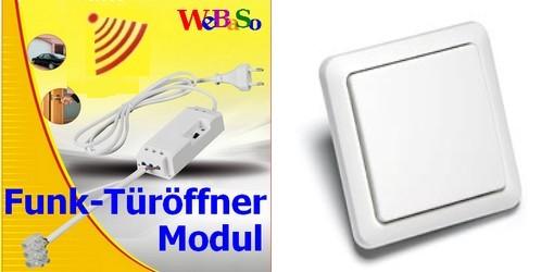 FTO-2090-W Funk-Türöffner Modul im Set mit Funk-Wandtaster YWT-8500
