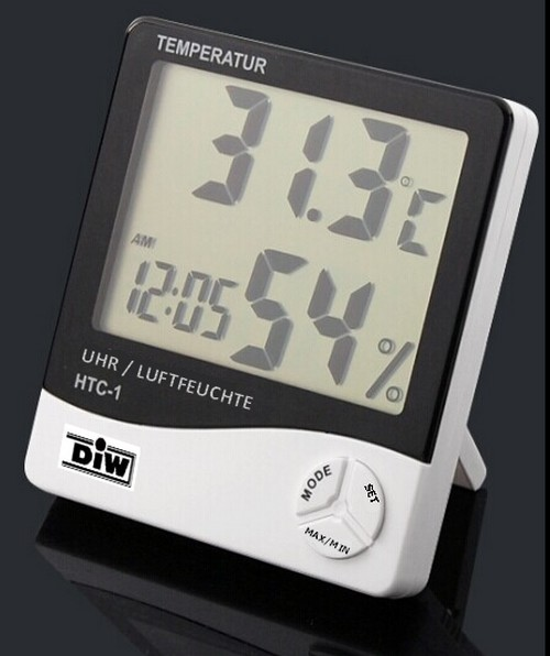 HTC-1 DIW-Hygrometer-Thermometer elektronisch