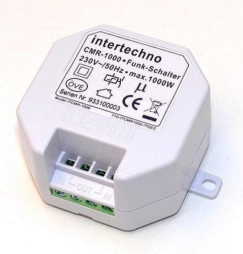 CMR-1000 Funk-Einbauschalter EIN/AUS 230VAC Intertechno