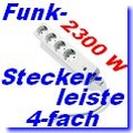 IT-2300 4-fach Funk-Steckdosenleiste Intertechno