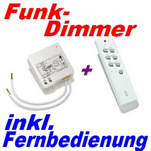 funk set itl 210 funk dimmer f lichtschalter handsender itt 1500 intertechno ebay. Black Bedroom Furniture Sets. Home Design Ideas