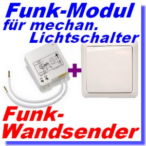 funk set itl 230 funk modul f lichtschalter ywt 8500 wandsender intertechno ebay. Black Bedroom Furniture Sets. Home Design Ideas