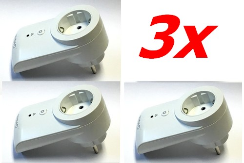 3-er Set G-Home WiFi Funksteckdosen innen mit Smartphone/Tablet im WLan schalten