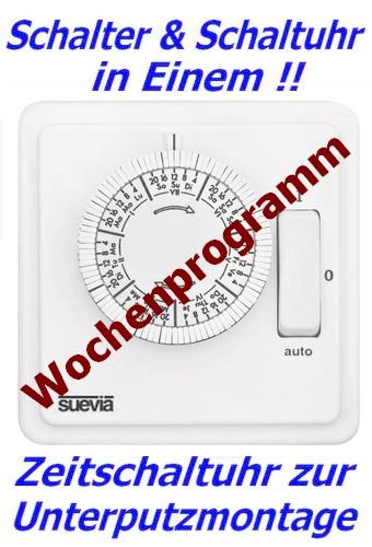Zeitschaltuhr von Suevia Wochenprogramm