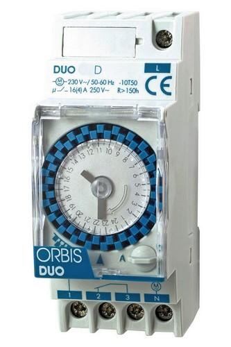 DUO D analoge Zeitschaltuhr Tagesscheibe von ORBIS