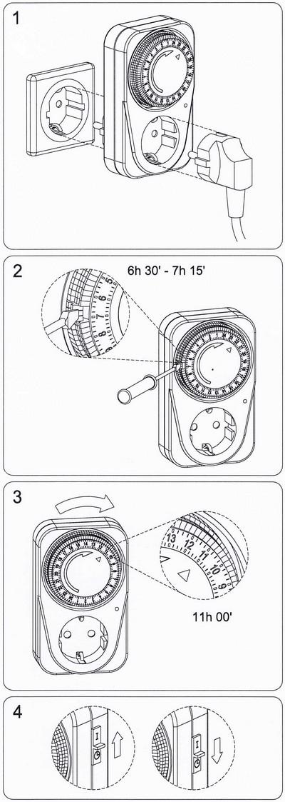 Plug-SK analoge Zeitschaltuhr von Suevia