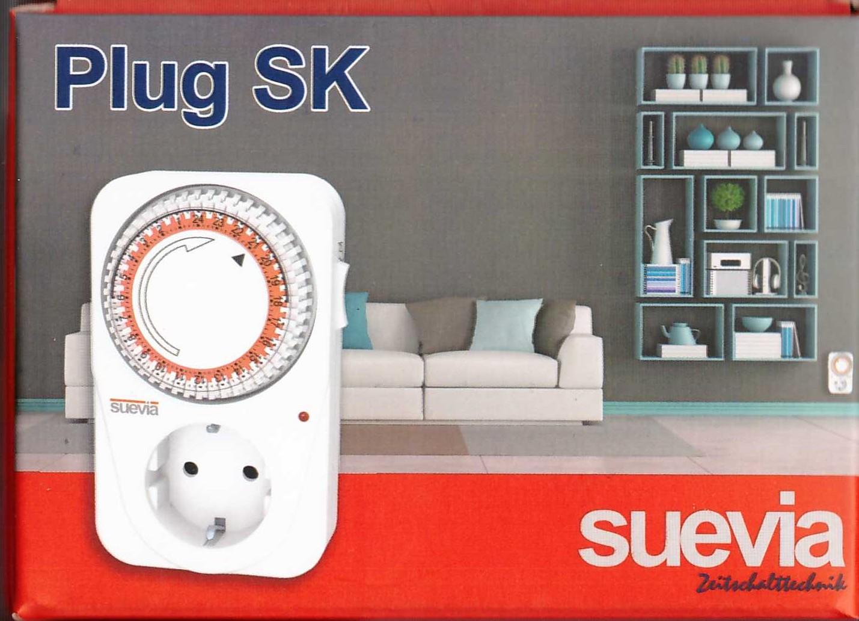 Box PlugSK analoge Steckdosen-Zeitschaltuhr von Suevia von Suevia