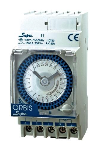 SUPRA QRD analoge Zeitschaltuhr Tagesscheibe Gangreserve 150 Std. von ORBIS
