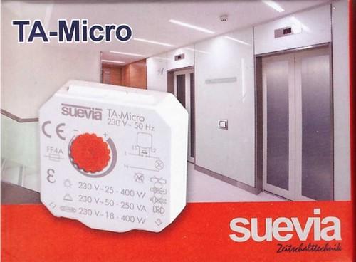 Verpackung TA-Micro Treppenlicht Zeitschalter von Suevia