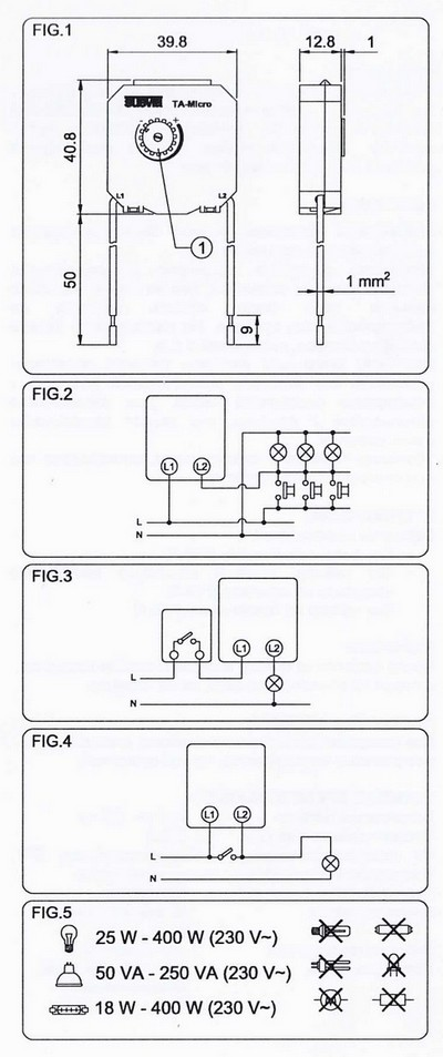TA-Micro Treppenlicht Zeitschalter von Suevia