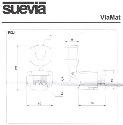 Abmessungen ViaMat Bewegungsmelder von Suevia