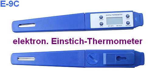 E-9C elektronisches Einstichthermometer Fleisch- /Braten-Thermometer