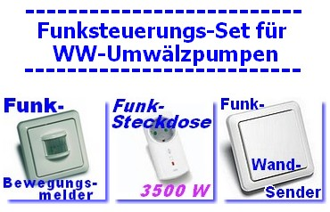 funksteuerung f r warmwasser umw lzpumpe mit kabellosem bewegungsmelder taster ebay. Black Bedroom Furniture Sets. Home Design Ideas