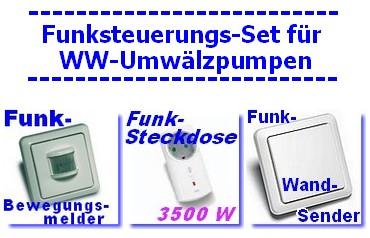 funksteuerung f r warmwasser umw lzpumpe mit kabellosem bewegungsmelder taster ebay. Black Bedroom Furniture Sets. Home Design Ideas