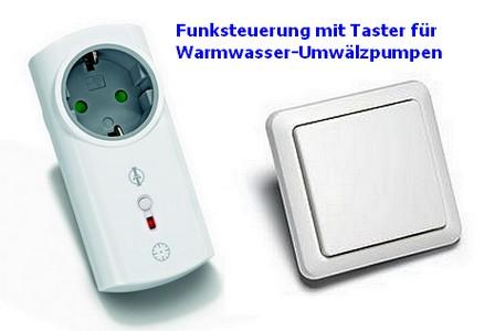 Funk-Steuerungs-Set mit Taster für Umwälzpumpen Serie Intertechno