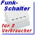 Funk-Einbau-Empfänger für 3 Verbraucher