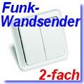 2-fach Funk-Wandsender