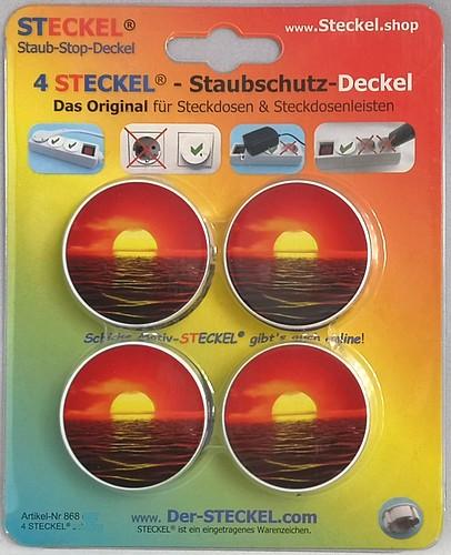 Deko-STECKEL Deko Steckdosen Abdeckung Rahmen rot