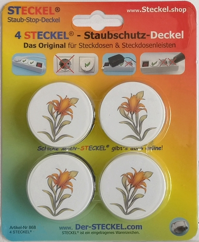 4 Stück Deko-STECKEL DS-412 Lilie_40