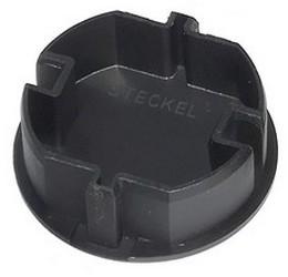 Original-STECKEL schwarz - die clevere Steckdosen-Abdeckung erspart Putzen von  Schuko-Steckdosen Mehrfachleisten, Kabeltrommeln